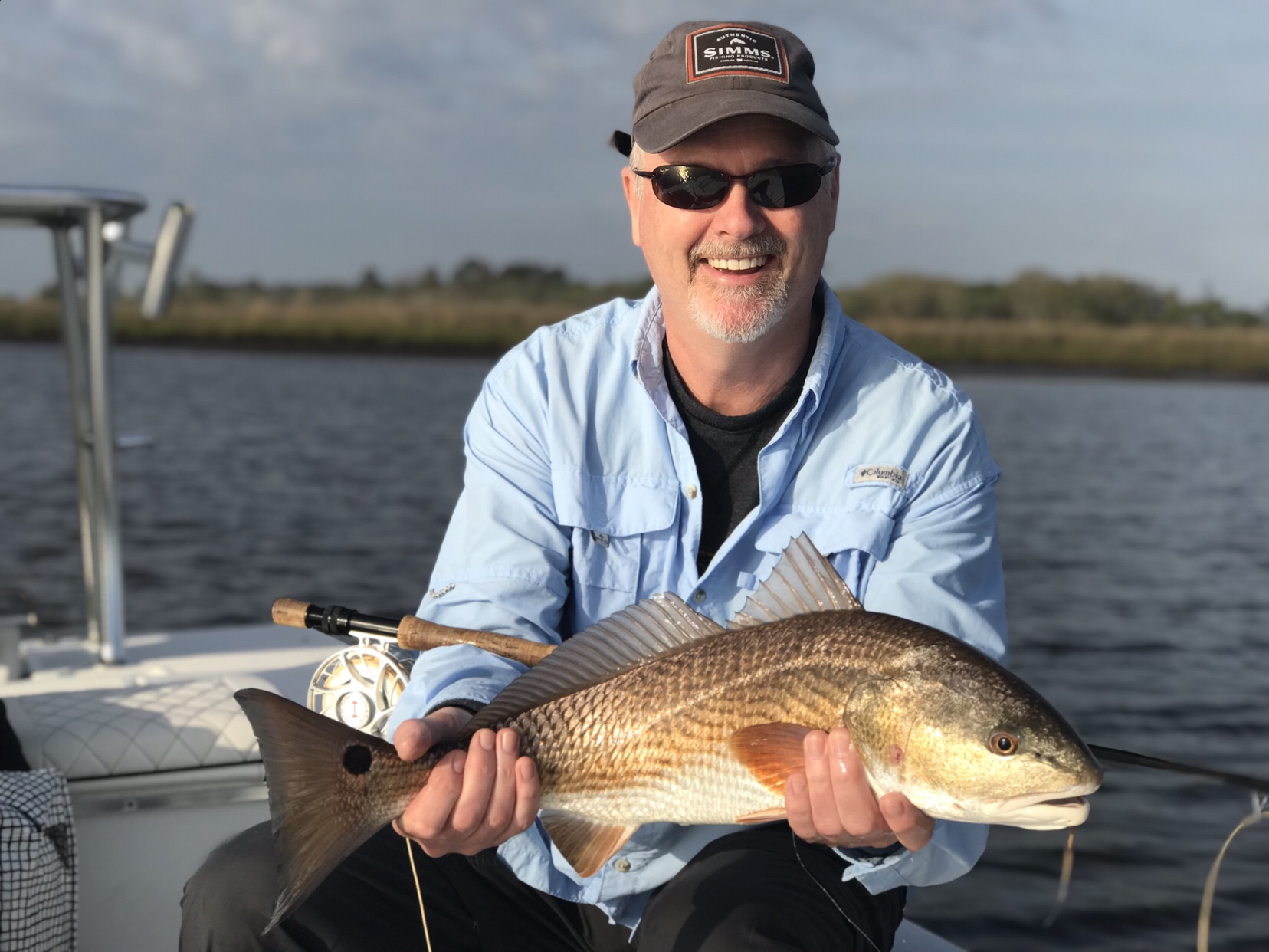 Low tide fishing With Joe Jacksonville Marsh Florida Red fish caught on fly